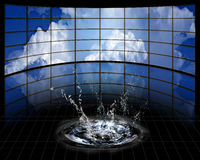 Large Screens with cloud. And splash Royalty Free Stock Images