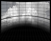 Large Screens with Clouds Stock Images