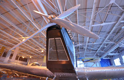 Large. Photo of one of the many exhibits of the permanent exhibition. This photo was taken in Western Canada Aviation Museum. Winnipeg City, Manitoba Province stock photography