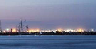 Large sea port dams Stock Image