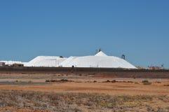 Large Sea salt mining stockpile Royalty Free Stock Images