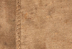 Large seam on sackcloth Stock Photography