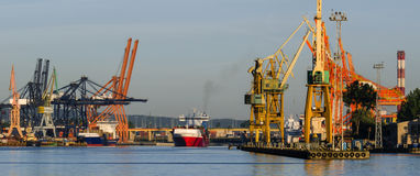 LARGE SEAPORT Royalty Free Stock Photos