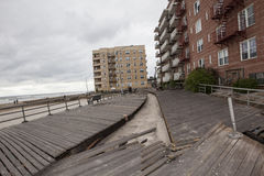 Large section of the iconic boardwalk was Stock Image