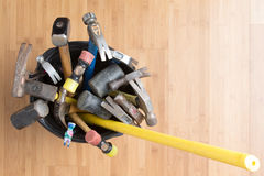 Large selection of hammers for every occasion Stock Photography
