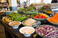 Large Selection Of Vegetarian Dishes Royalty Free Stock Photography