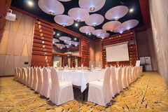 Large seminar room in hotel. Stock Photography