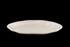 Large Serving Platter. Background still capture of a large handmade glazed holiday serving platter Royalty Free Stock Photography