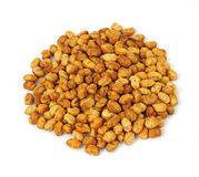 Large serving of roasted soy nuts Royalty Free Stock Images