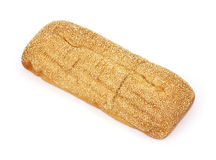 Large sesame seed Italian bread loaf Royalty Free Stock Photography