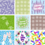 Large set of Abstract grunge texture, floral stock illustration