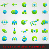 Large set of abstract symbols Stock Photos
