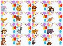 Large set of animal invitations royalty free stock image