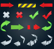 Large set of arrow icons Stock Photo