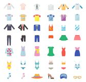 Large Set of Clothing Icons Stock Images