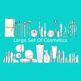 Large set of cosmetics Royalty Free Stock Photography