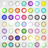 Large set of diamonds all colors Stock Photos