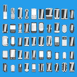 Large set of different abstract mobile phones part 1/2 Stock Images
