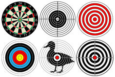 A large set of different targets,  Stock Photos