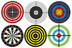 A large set of different targets,.  Royalty Free Stock Photos