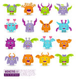Large  set of drawings different characters  monsters. Halloween for your design Stock Photo