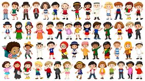 Large set of ethnical people. Illustration royalty free illustration