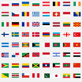 A large set of flags Royalty Free Stock Image