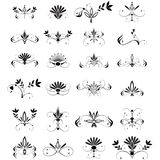 Large set of floral design elements Royalty Free Stock Images