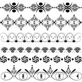 Large set of floral design elements Royalty Free Stock Photos