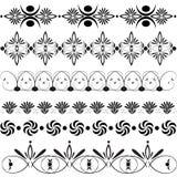 Large set of floral design elements. Vector large set of floral design elements Royalty Free Stock Photos
