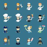 Large set of funny professional people avatars Stock Images