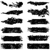 Large set of grunge brush strokes Stock Photography