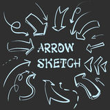 Large set of hand-drawn vintage arrows. Form style. It can be used for website design. Vector Stock Photography