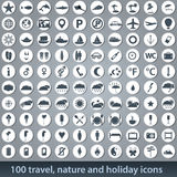 Large set of holiday icons Stock Photos