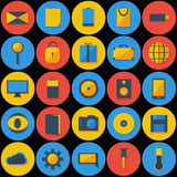 Large Set of Icons. In a flat design Royalty Free Stock Photo