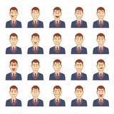 Large set of male emotions Royalty Free Stock Photo