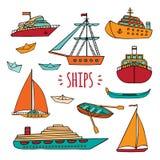 Large set of marine vessels. Royalty Free Stock Image