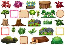 Large set of nature elements. Illustration vector illustration