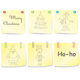 Large Set Of Christmas Paper .Vector Illustration Stock Photo