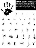 Large Set Of Original Vector Ink Drops Stock Photography