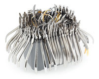 A large set of orthodontic pliers Royalty Free Stock Photo