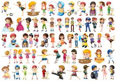 Large set of people. Illustration vector illustration
