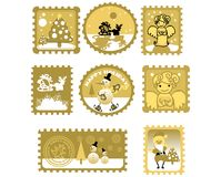 Large Set of Postage stamps Royalty Free Stock Photos