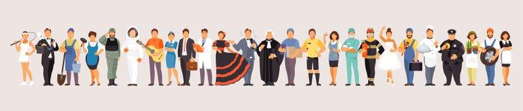Large set of professions vector illustration