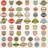 Large set of retro labels Stock Photo