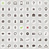 Large set of retro style web icons Stock Photos