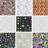 Large set of Seamless pattern of triangles. ink Stock Photography