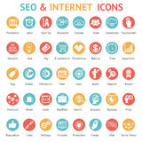 Large set of SEO and internet icons Royalty Free Stock Images