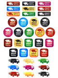 Large Set Of Shipping And Delivery Badges. Large set of shipping badges and icons Royalty Free Stock Image