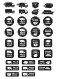 Large Set Of Shipping And Delivery Badges Stock Images